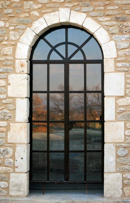 Baies vitr es en ferronnerie pose de verre isolant antieffraction feuillet for Porte en fer et verre