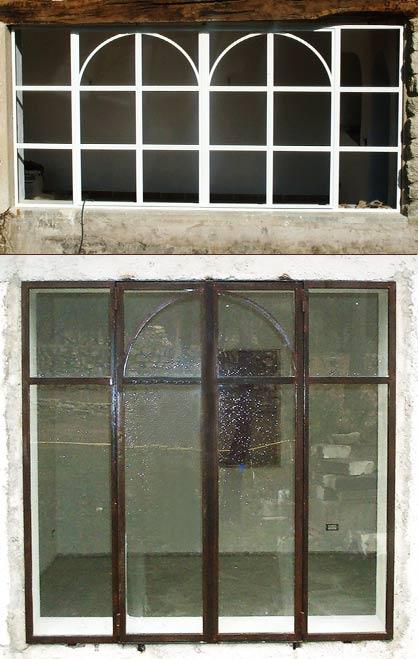 Portes et fen tres en ferronnerie pose de verre isolant antieffraction feuillet for Porte fenetre en fer